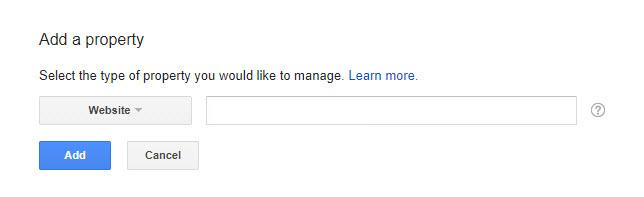 """سپس آدرس صفحه اصلی وب سایت خود را وارد کنید و دکمه """"Add"""" را کلیک کنید."""